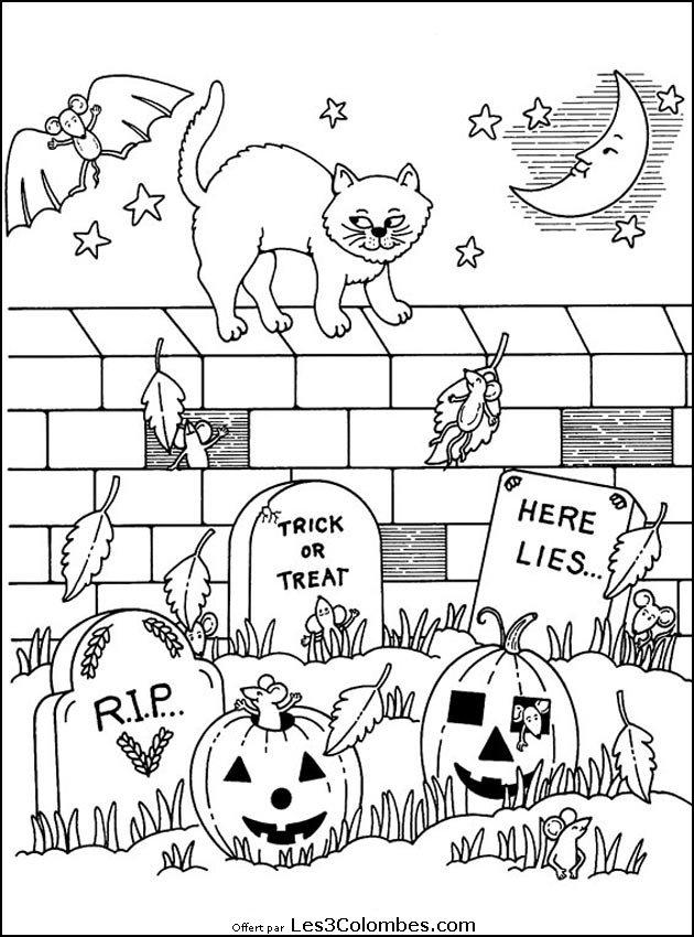 Coloriages Halloween 020 - Coloriage En Ligne Gratuit Pour intérieur Dessin Halloween À Imprimer Gratuit