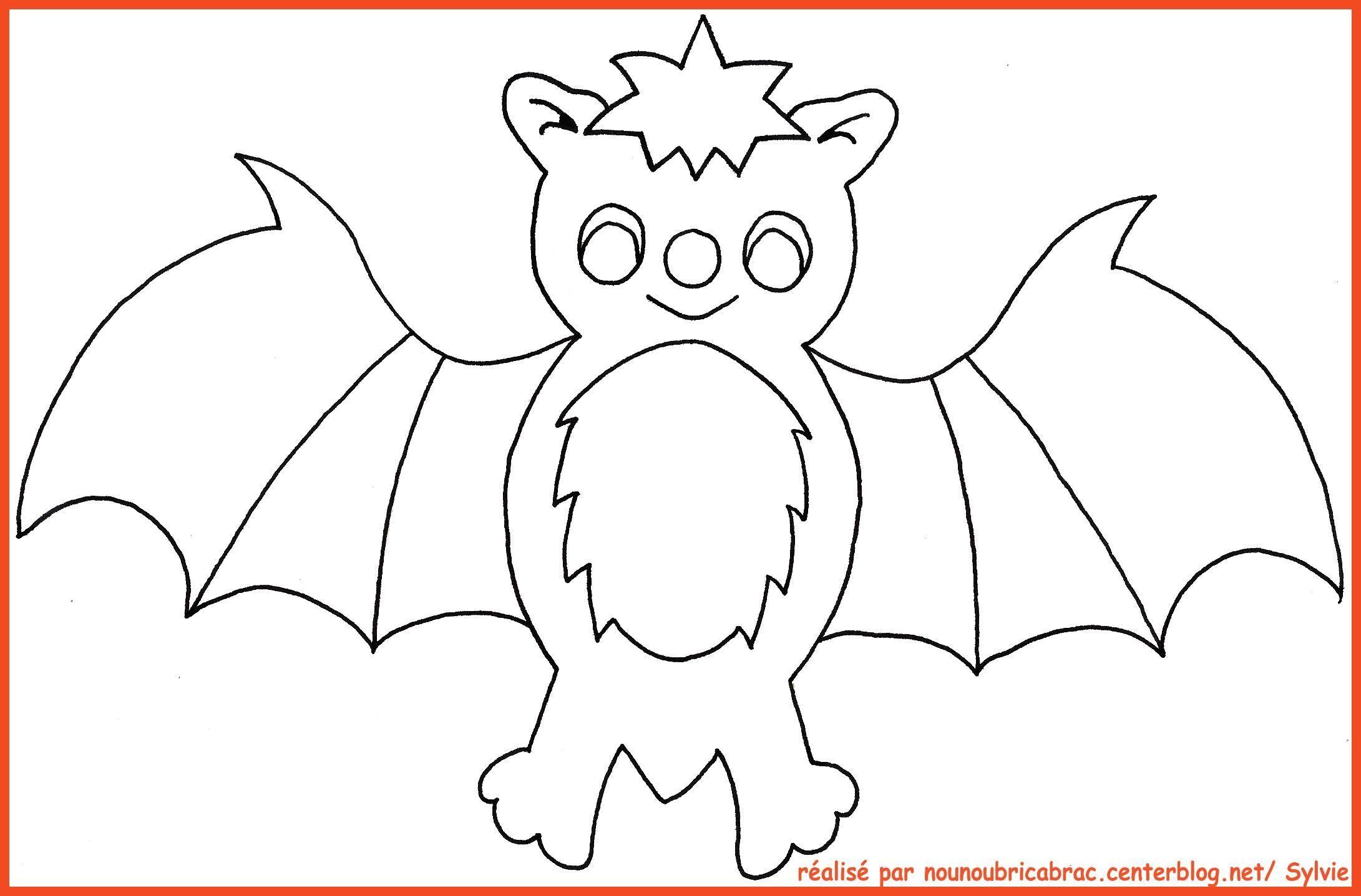 Coloriages Halloween concernant Dessin Chauve Souris À Colorier
