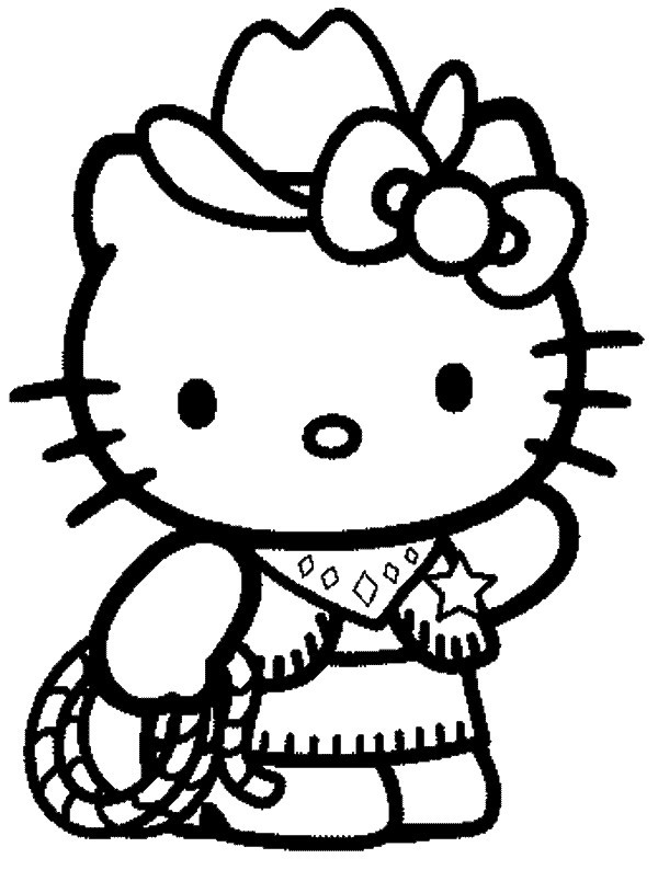 Coloriages Hello Kitty - Page 3 pour Dessin À Imprimer Hello Kitty