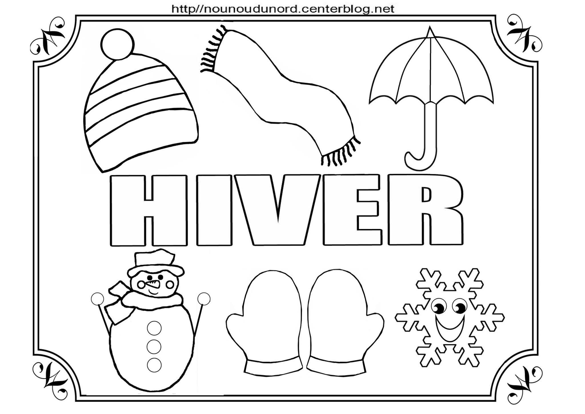 Coloriages Hiver - Assistante Maternelle Argenteuil - Orgemont concernant Coloriage Maternelle