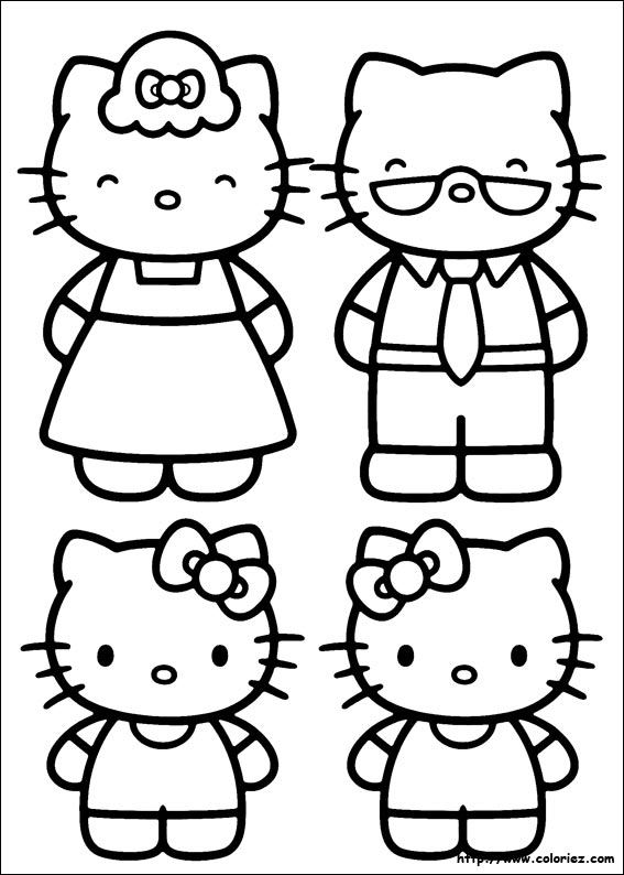Coloriages Images Hello Kitty On Pinterest | Hello Kitty avec Coloriage Hello Kitty Coeur