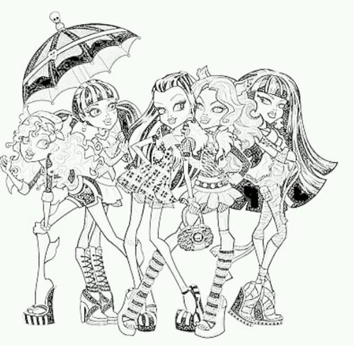 Coloriages Interactifs Monster High serapportantà Coloriage Interactif