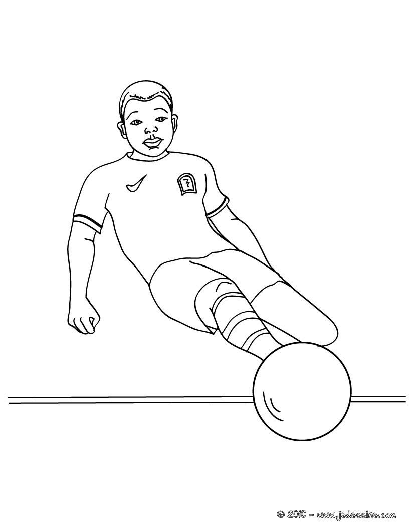 Coloriages Joueur De Foot À Imprimer - Fr.hellokids pour Coloriage De Footballeur