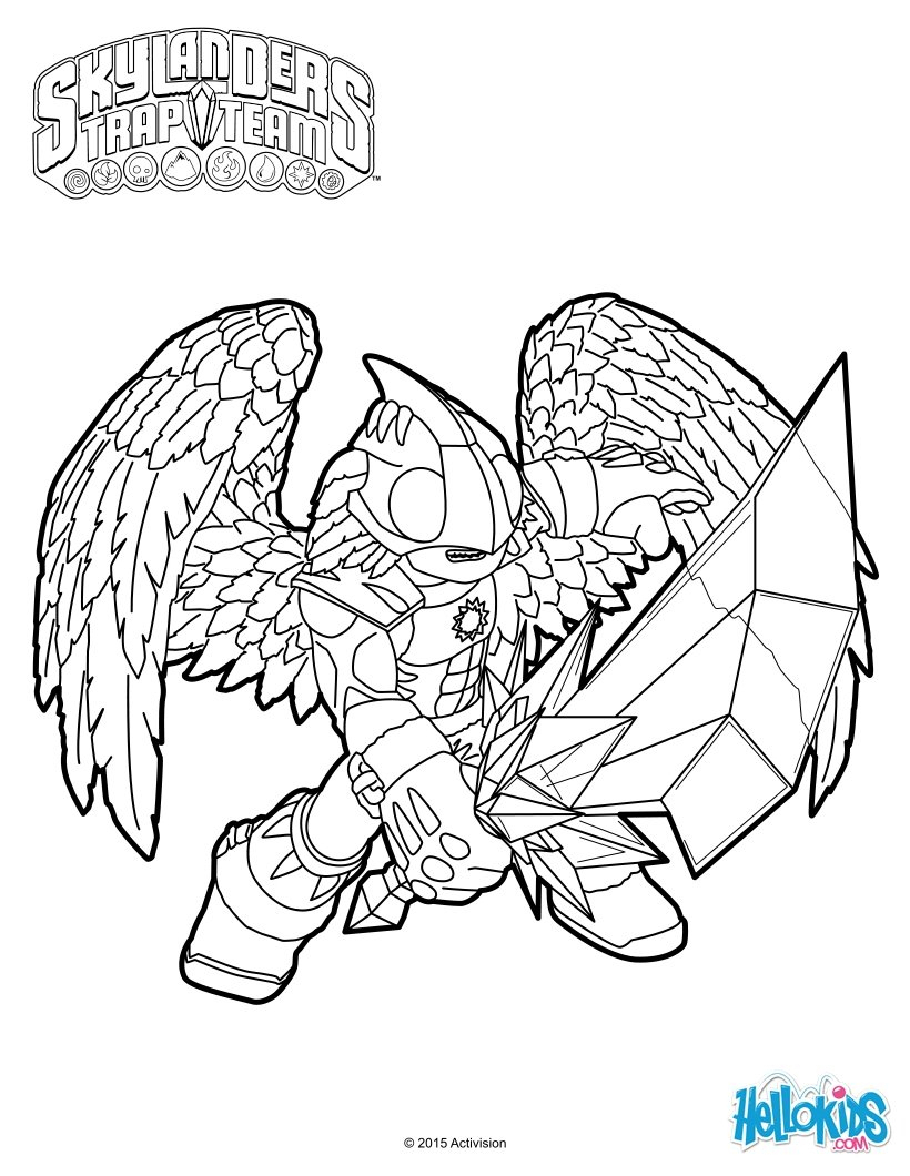 Coloriages Knight Light - Fr.hellokids pour Coloriage Skylanders Trap Team A Imprimer Gratuit