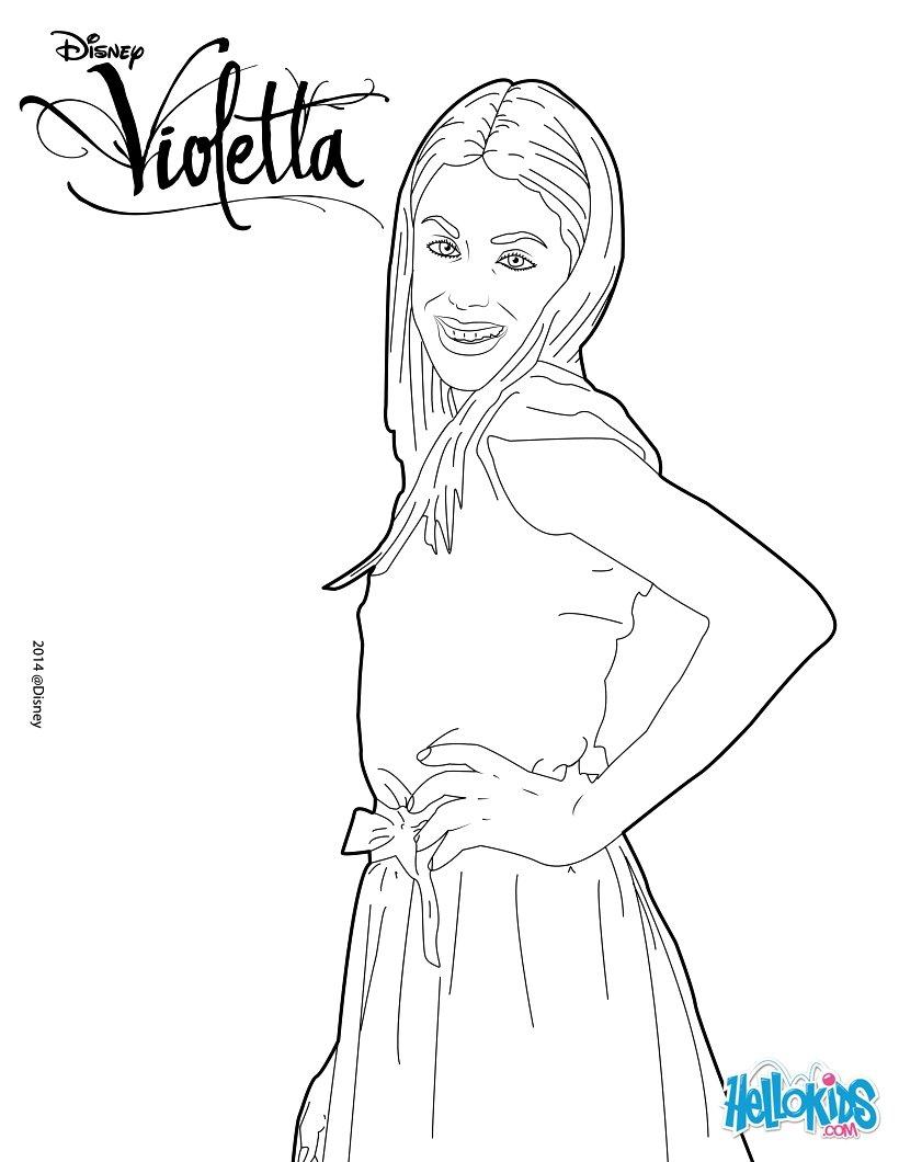 Coloriages La Belle Violetta - Fr.hellokids pour Dessin Violetta A Colorier