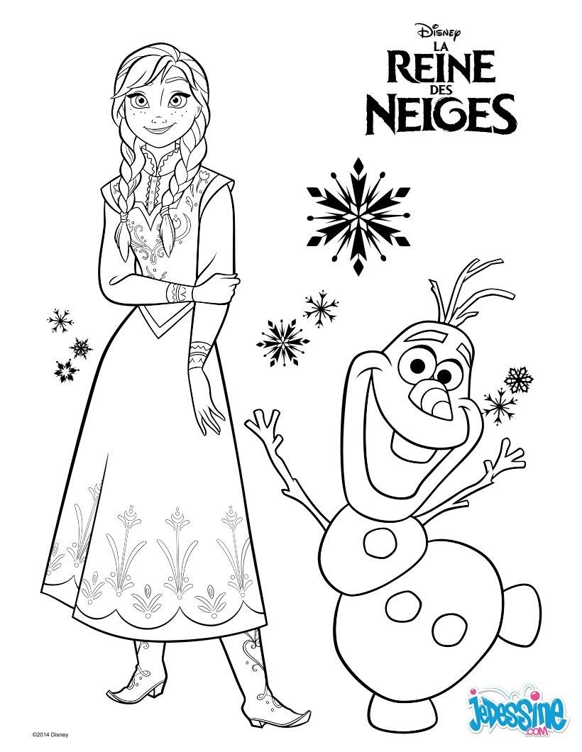 Coloriages La Reine Des Neiges - Anna Et Olaf - Fr pour Reine Des Neige A Colorier