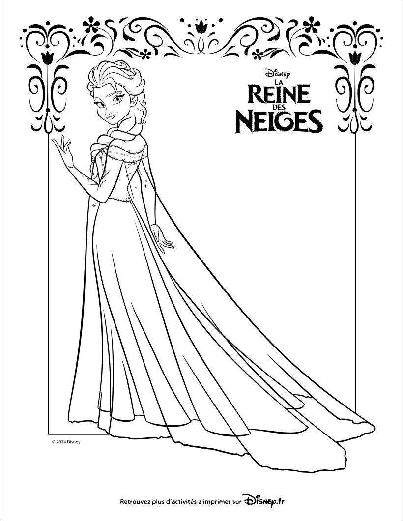 Coloriages La Reine Des Neiges - Elsa - Fr.hellokids avec Coloriage À Imprimer Gratuit Reine Des Neiges