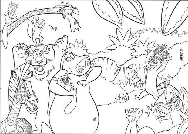 Coloriages Les Animaux De La Jungle - Fr.hellokids intérieur Coloriage Animaux De La Jungle Gratuit