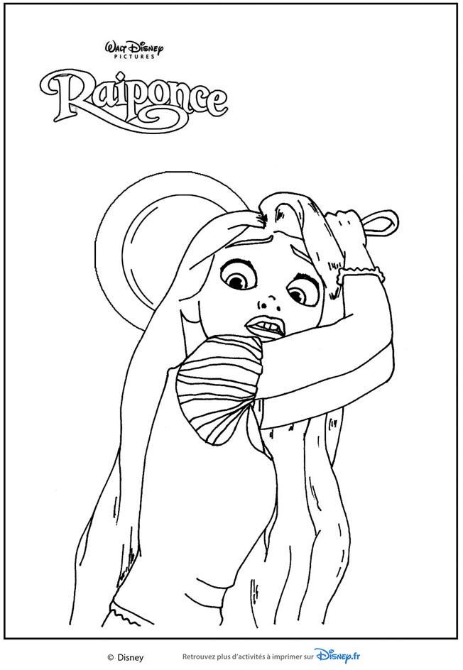Coloriages Les Princesses Disney - La Princesse Raiponce destiné Coloriage À Imprimer De Raiponce