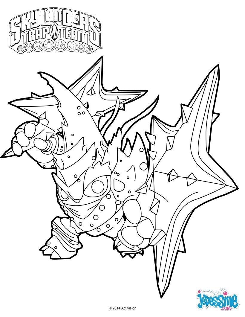 Coloriages Lob-Star - Fr.hellokids dedans Coloriage Skylanders Trap Team A Imprimer Gratuit