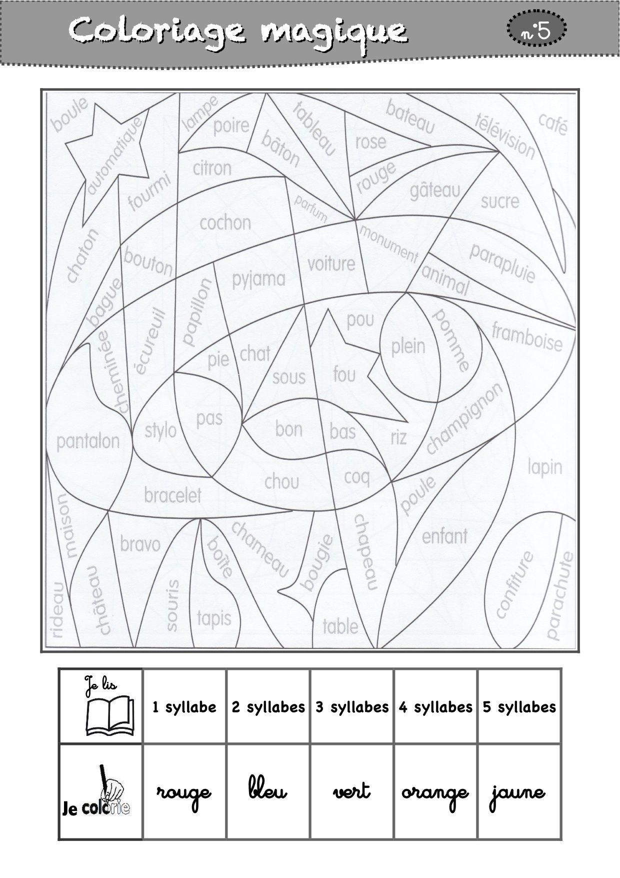 Coloriages Magiques Cp destiné Coloriage Magique Gs