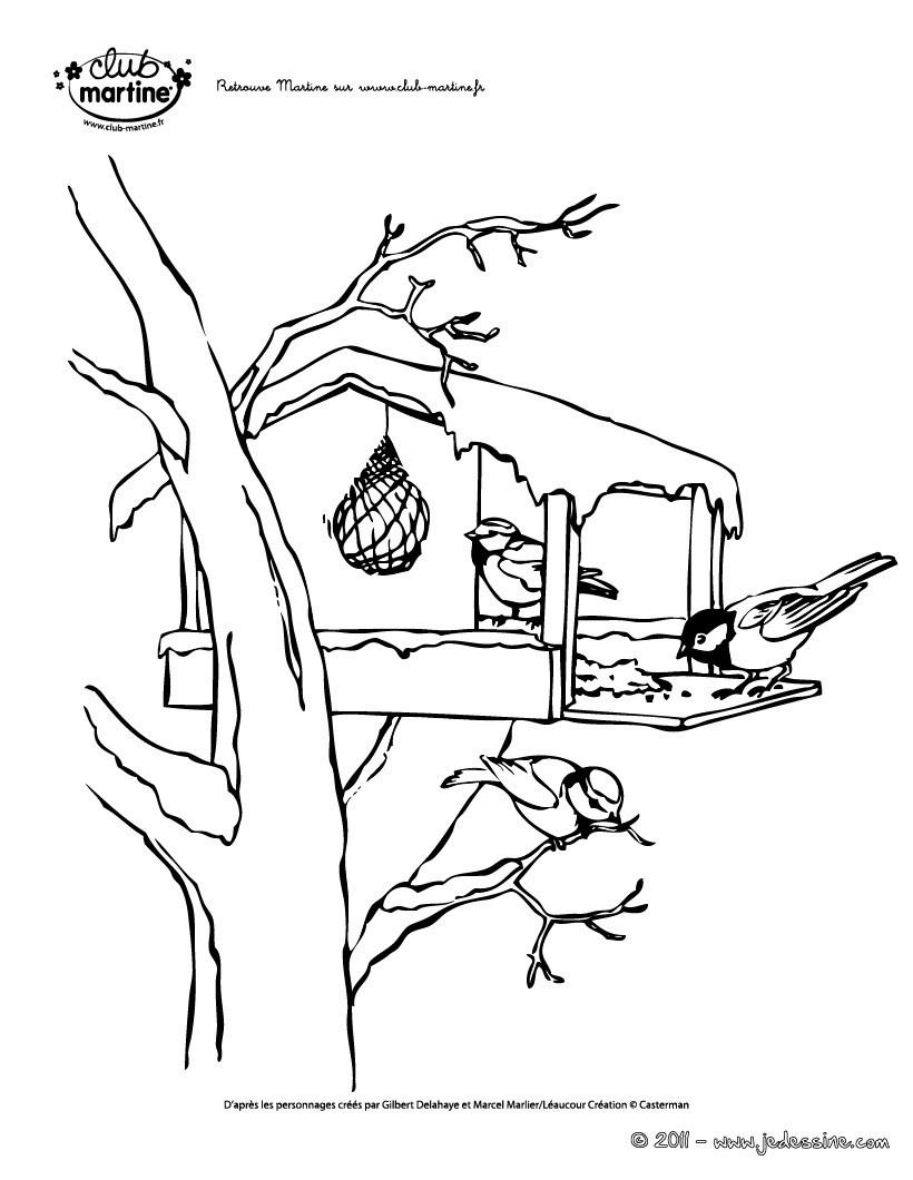 Coloriages Martine Coloriage Oiseaux - Fr.hellokids encequiconcerne Coloriage Oiseaux A Imprimer