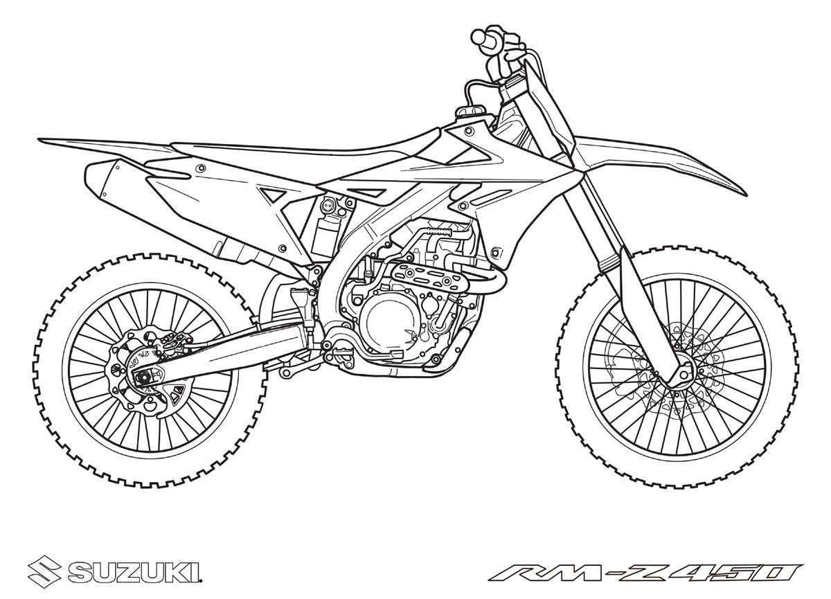 Coloriages Motos À Imprimer Suzuki tout Coloriage Moto Cross A Imprimer Gratuit