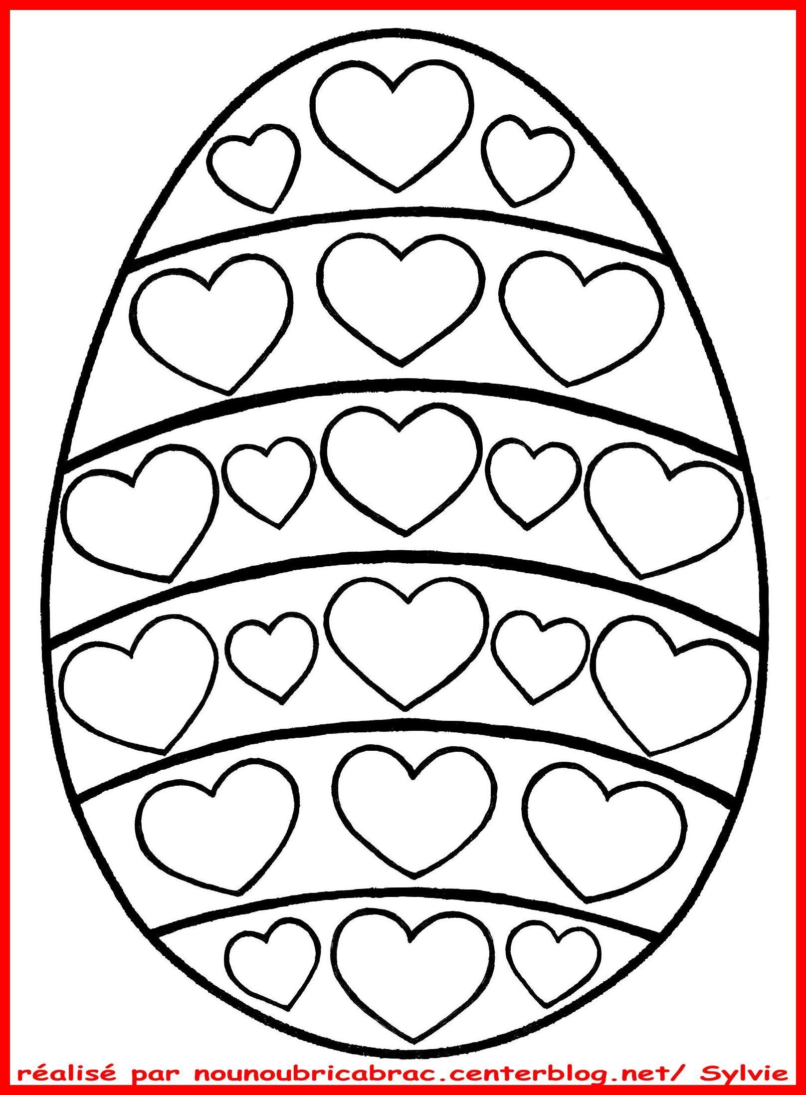 Coloriages Paques - Page 2 destiné Coloriage À Imprimer Joyeuses Pâques