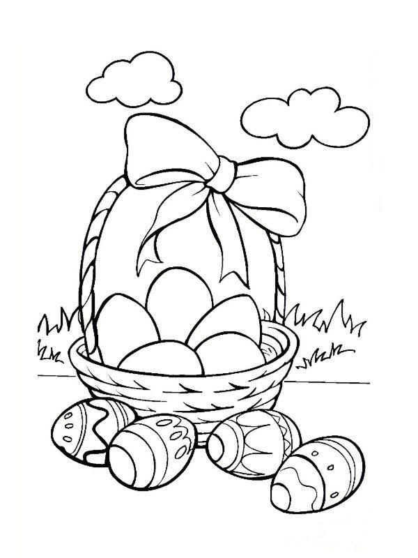 Coloriages Paques Paniers - Page 2 concernant Dessin Oeuf De Paques