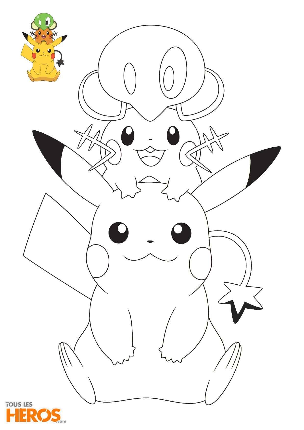 Coloriages Pokémon À Découvir Sur Le #Blog De Tlh encequiconcerne Coloriage Pokemon Evoli