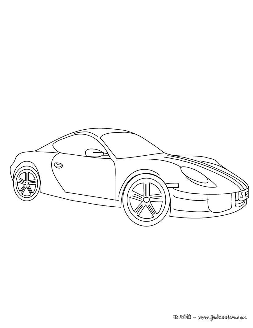 Coloriages Porsche Cayman - Fr.hellokids intérieur Coloriage Porsche A Imprimer