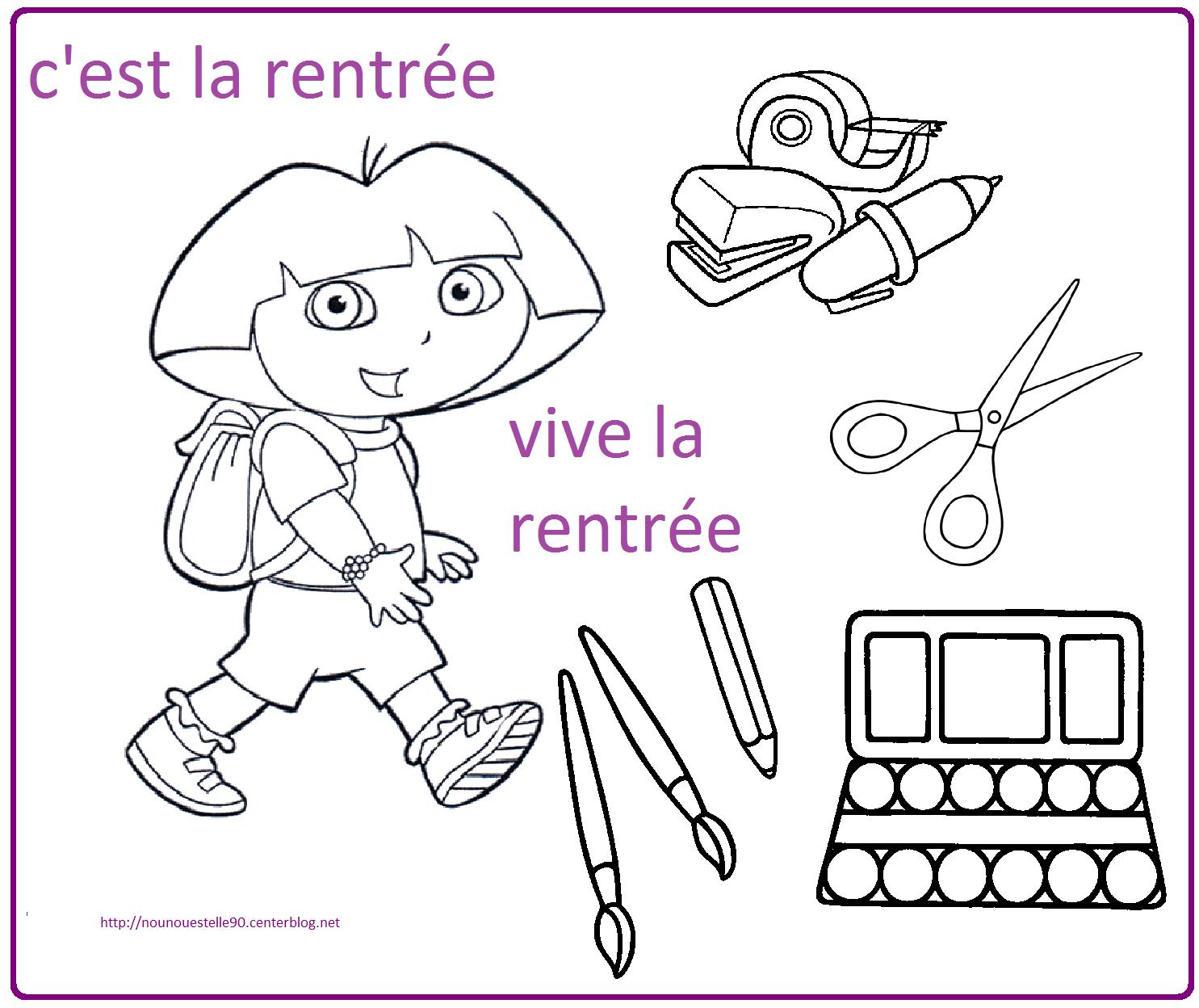 Coloriages Pour La Rentree Des Classes concernant Coloriage Rentree
