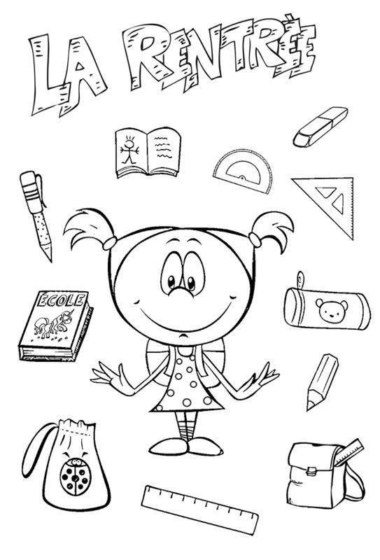 Coloriages Pour La Rentree Des Classes - Page 2 à Coloriage Rentrée Maternelle