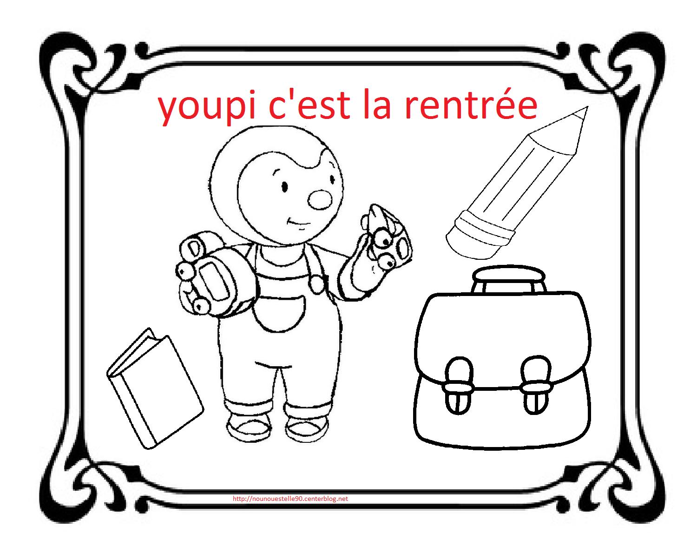 Coloriages Pour La Rentree Des Classes pour Coloriage De Rentr?E Maternelle