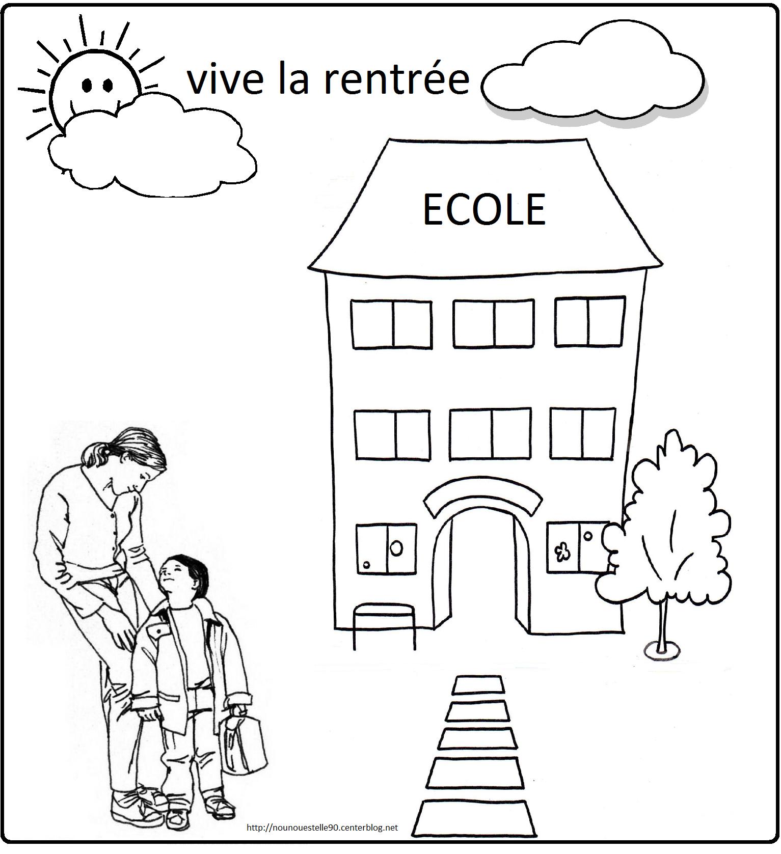 Coloriages Pour La Rentree Des Classes pour Coloriage Rentree
