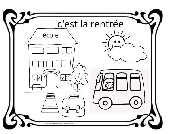 Coloriages Pour La Rentree Des Classes serapportantà Coloriage Rentrée Maternelle