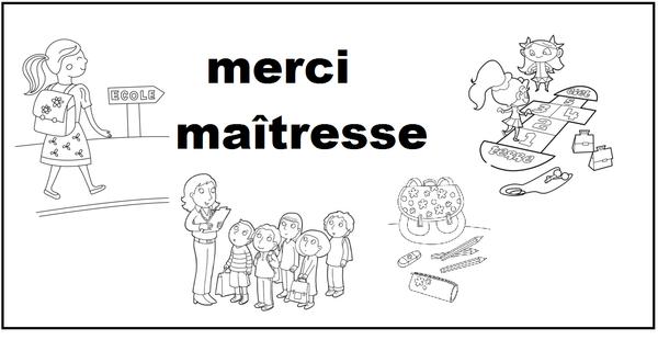 Coloriages Pour Maitresse - Page 2 tout Dessin Maitresse