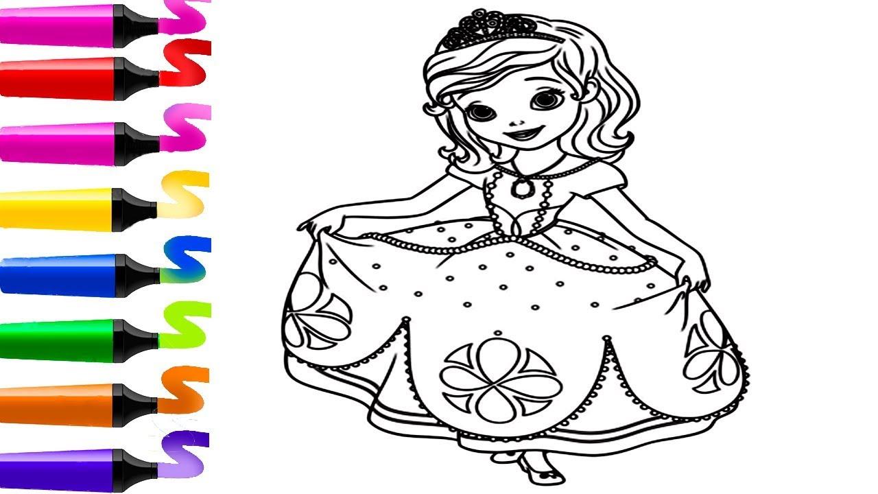 Coloriages Princesses Beau Image Coloriage De Princesse à Coloriage En Ligne Princesse Sofia