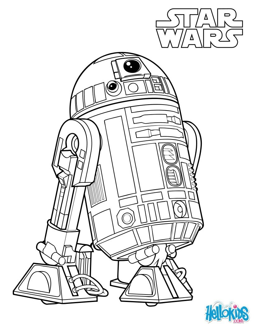 Coloriages R2-D2, Le Droïde De Luke Skywalker - Fr dedans Star Wars Dessin A Colorier
