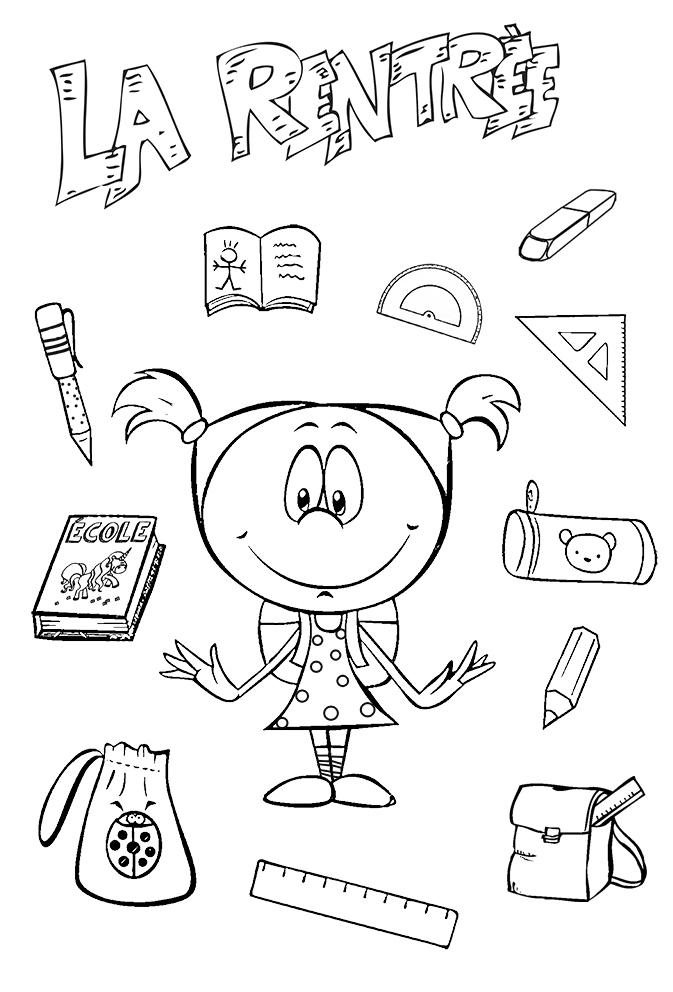 Coloriages Rentrée Des Classes - La Rentrée Scolaire A destiné Coloriage Rentree