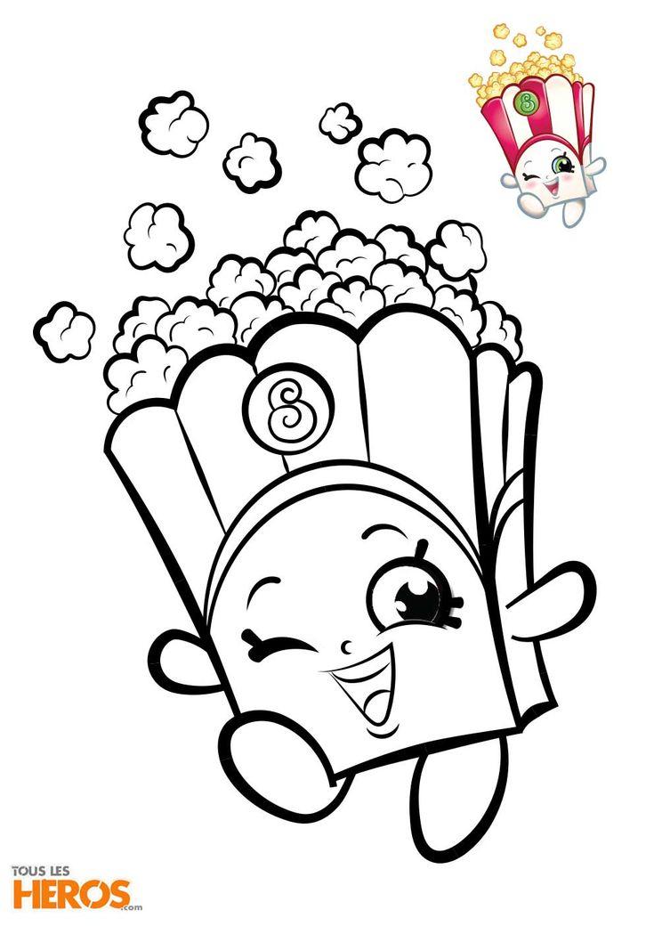 Coloriages Shopkins : Coloriez Ces Adorables Personnages pour Coloriage Guepard Et Dessin Imprimer