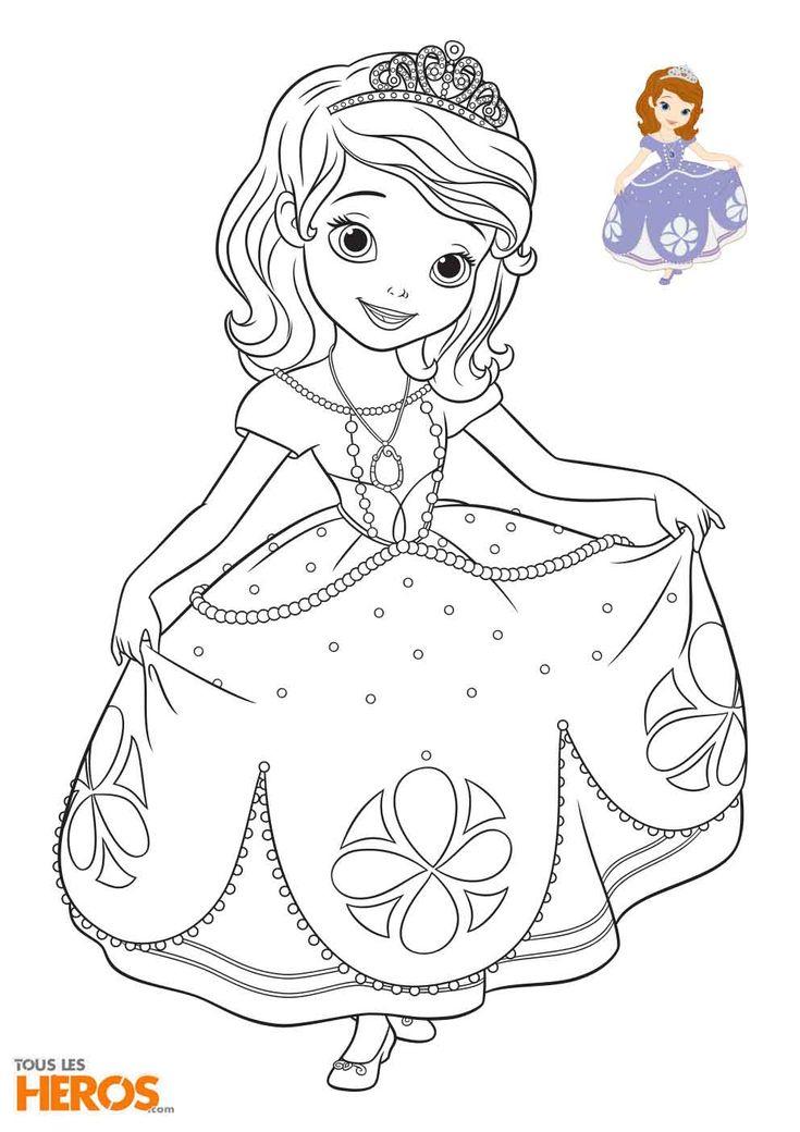 Coloriages Sofia La Princesse À Imprimer Gratuitement avec Dessin Animé Princesse Sofia
