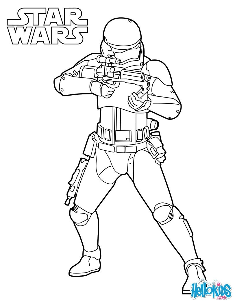 Coloriages Stormtrooper De L'Épisode Vii - Fr.hellokids destiné Coloriage Star Wars