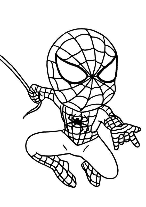 Coloriages Super Heros destiné Coloriage Spiderman