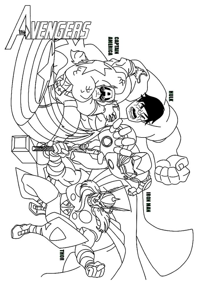 Coloriage Avengers A Imprimer - GreatestColoringBook.com