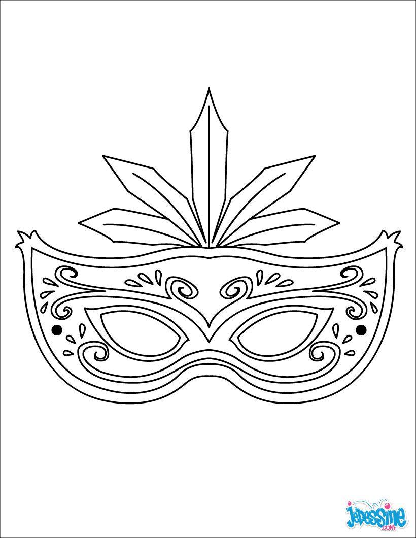 Colorier En Ligne | Coloriage Carnaval, Masque Carnaval avec Masque À Colorier Gratuit