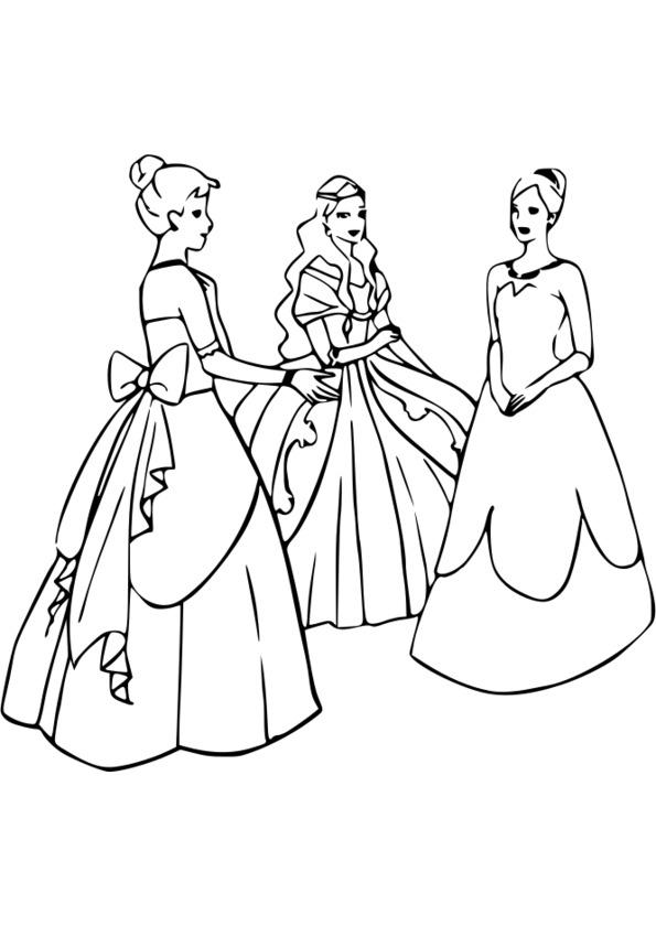 Colorier Les Princesses Disney En Ligne intérieur Coloriage De Toute Les Princesse