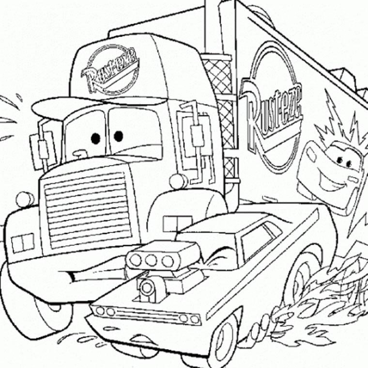 Colorier Un Camion De Pompier avec Coloriage Camion A Imprimer