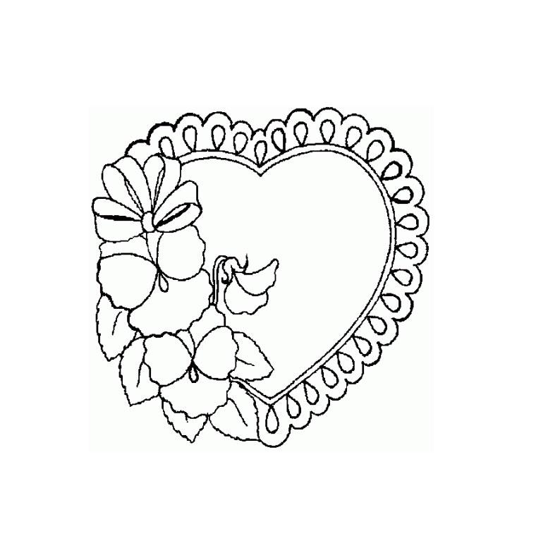 Colorier Un Coeur D'Amour pour Dessin A Imprimer Coeur