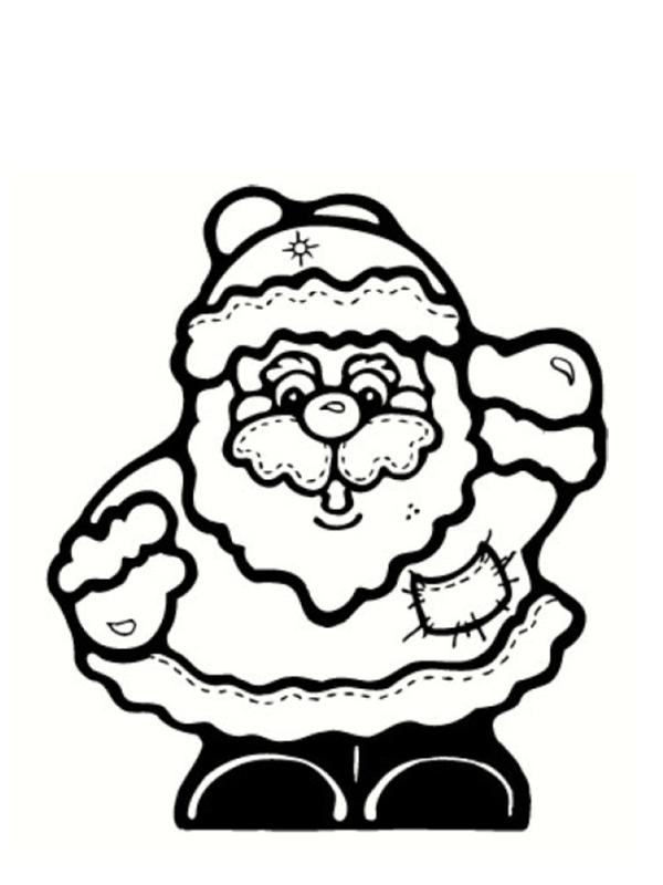 Colorier Un Pere Noel dedans Coloriage Père Noel Gratuit À Imprimer