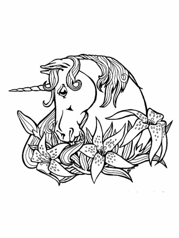 Colorier Une Licorne concernant Dessin A Imprimer Licorne