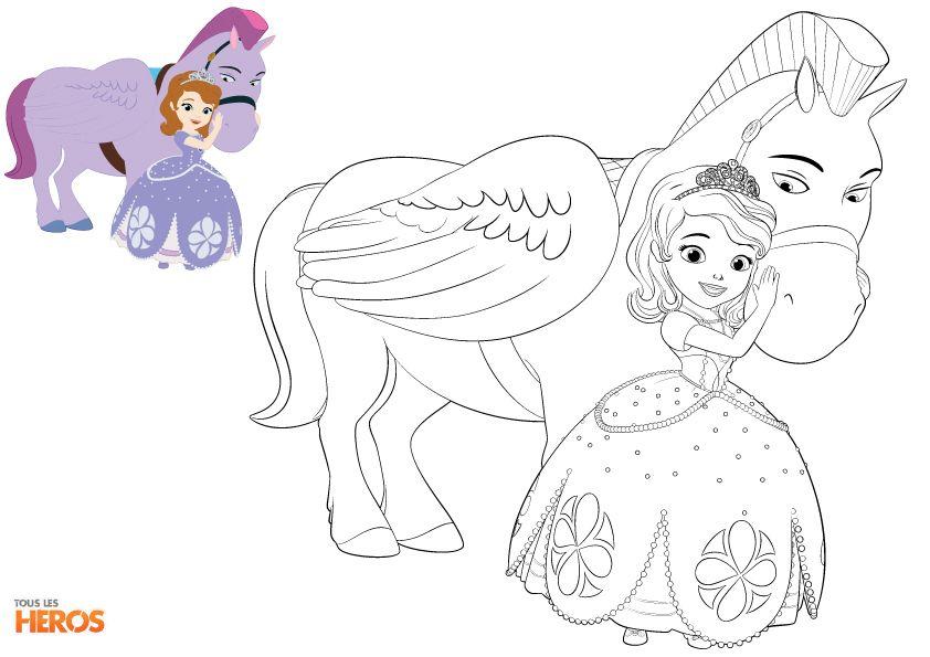 Coloriez #Sofia La Princesse ! #Coloriage #Princesse Sur destiné Coloriage Princesse Sofia À Imprimer