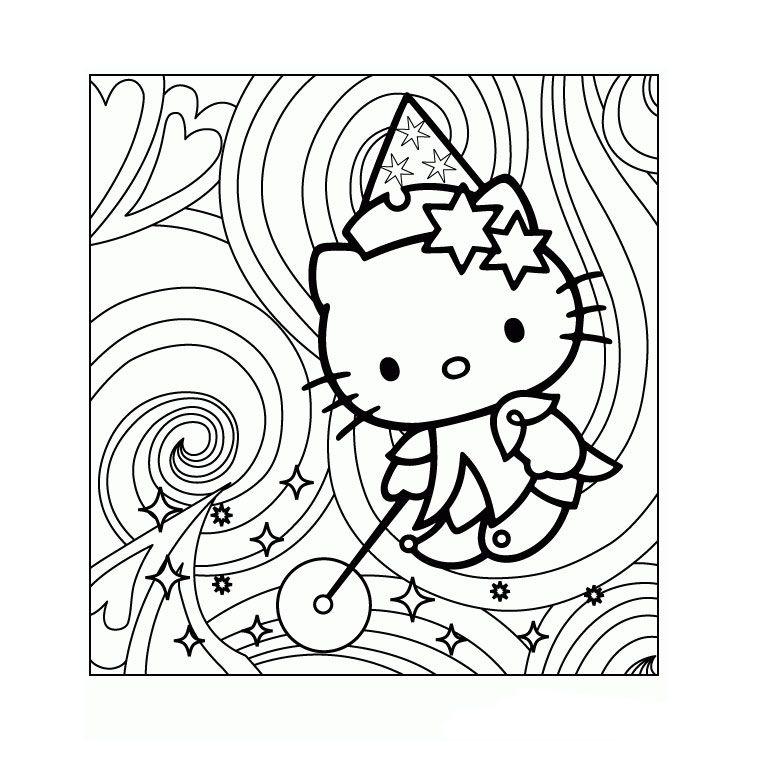 Coloring Hello Kitty Magic- Tons Of Coloring Pages,Nice encequiconcerne Dessin A Imprimer Hello Kitty