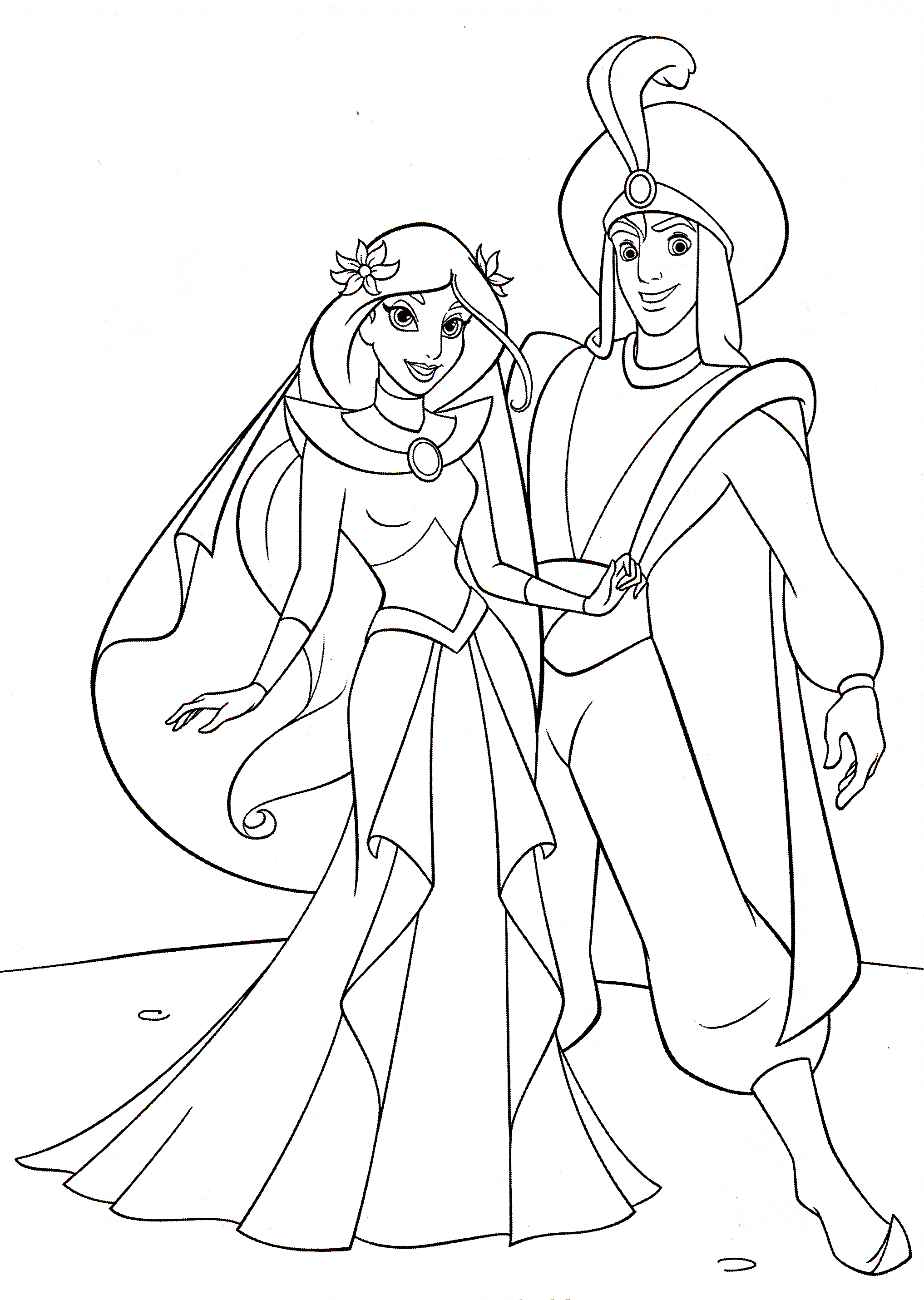Coloring Pages Aladdin - Yahoo Image Search Results pour Princesse Coloriage