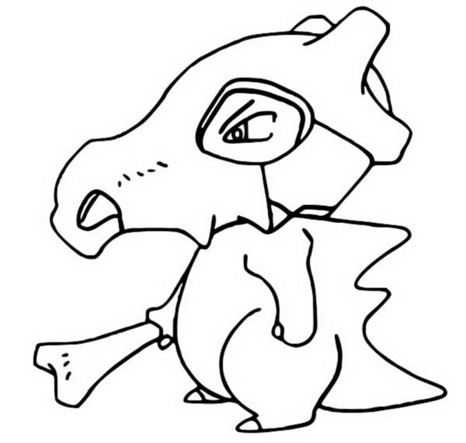 Coloring Pages Pokemon - Cubone - Drawings Pokemon destiné Coloriage Pok?Mon Togedmarou