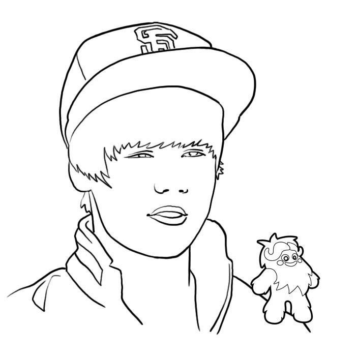 Coloring Ville concernant Dessin De Justin Bieber