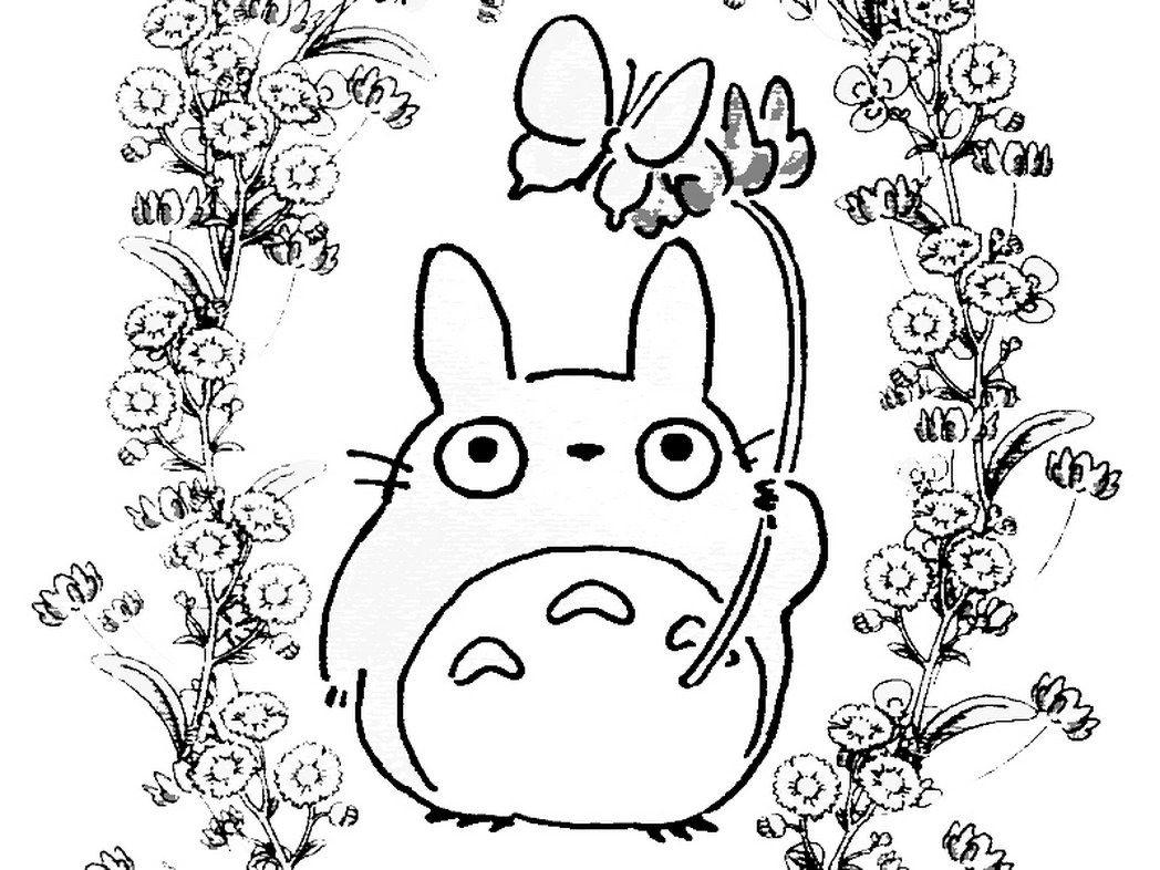 Coloringpages2015 Wp-Content Uploads 2014 08 Anime dedans Coloriage Totoro A Imprimer