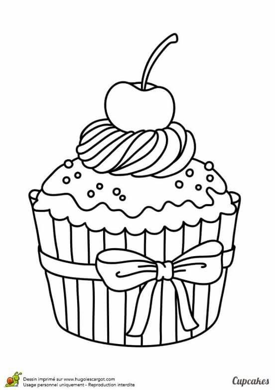 #Colorir | Desenhos De Alimentos, Cupcake Desenho tout Coloriage De Cupcake
