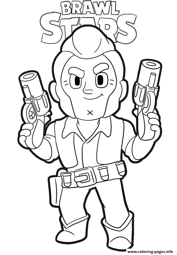 Colt Ready Brawl Stars Coloring Pages Printable intérieur Coloriage Brawl Stars