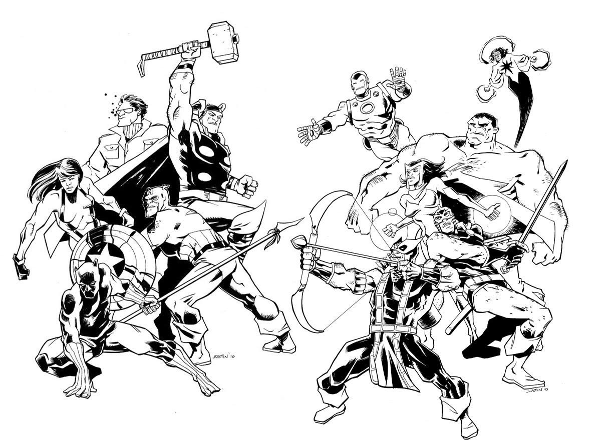 Comics Avengers 11 - Coloriage Avengers - Coloriages Pour à Coloriage Avengers